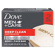 Dove Men+Care Deep Clean Body and Face Bar 2 pk