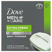 Dove Men+Care Extra Fresh Body and Face Bar 10 pk
