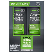 Dove Men+Care Extra Fresh Body and Face Wash Twin Pack