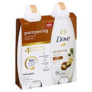 Dove Purely Pampering Shea Butter with Warm Vanilla Body Wash Twin Pack