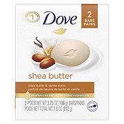 Dove Shea Butter Beauty Bar  2 pk
