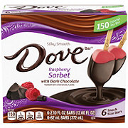 Dove Sorbet Bars, Raspberry with Dark Chocolate