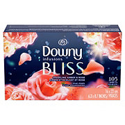 Downy Infusions Amber Blossom Fabric Softener Dryer Sheets
