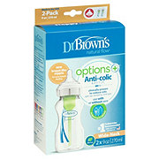 Dr. Brown's Natural Flow Options Wide Neck 9 oz Bottles