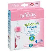 Dr. Brown's Pink Natural Flow Standard 8 oz Baby Bottles
