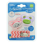 Dr. Brown's PreVent Pacifiers With Clip 0 To 6 Months