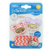 Dr. Brown's PreVent Pacifiers With Clip 6 To 12 Months