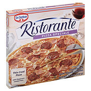 Dr. Oetker Ristorante Pizza Speciale Thin Crust Pizza with Pepperoni and Cooked Ham