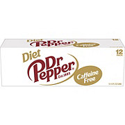 Dr Pepper Diet Caffeine Free Soda 12 oz Cans