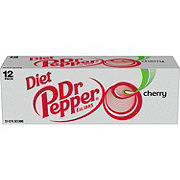 Dr Pepper Diet Cherry Soda 12 oz Cans