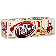 Dr Pepper Diet Cherry Vanilla Soda 12 oz Cans