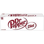 Dr Pepper Diet Soda 12 oz Cans