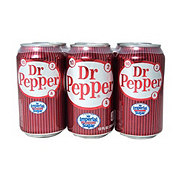 Dr Pepper Soda with Pure Cane Sugar, 6 pk