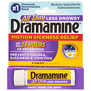 Dramamine Less Drowsy Motion Sickness Relief 25 mg Tablets