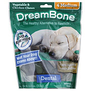 DreamBone Dental Bones Medium Vegetable & Chicken Chews