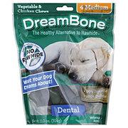DreamBone Dental Bones Medium Vegetable & Chicken Chews