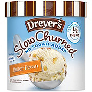 Dreyer's Slow Churned No Sugar Added Butter Pecan Light Ice Cream