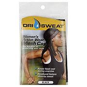 Dri Sweat Womens Active Wear Black Mesh Cap