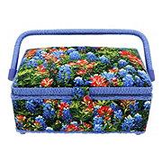 Dritz Blue Bonnet Sewing Basket