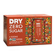 DRY Zero Sugar Peach Tea Soda 12 oz Cans