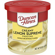 Duncan Hines Creamy Home Style Lemon Supreme Frosting