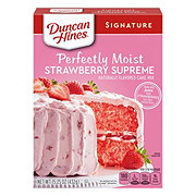 Duncan Hines Strawberry Supreme Premium Cake Mix