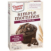 Duncan Hines Triple Chocolate Chunk Premium Muffin Mix