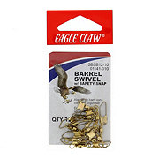 Eagle Claw Barrel Swivel with Safety Snap