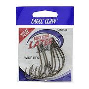 Eagle Claw Lazer Sharp Wide Bend Zip- Lip Fishing Hook, Size 3/0