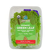 Earth Greens Organic Green Leaf Lettuce Leaves