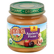 Earth's Best Organic Stage 2 Apples & Plums