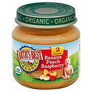 Earth's Best Organic Stage 2 Baby Food - Bananas, Peaches & Raspberries