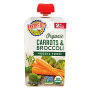 Earth's Best Organic Stage 2 Carrots and Broccoli Baby Food Puree