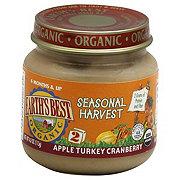 Earth's Best Organic Stage 2 Seasonal Harvest Apple Turkey Cranberry