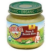 Earths Best Organic Earth's Best Baby Food Peas & Brown Rice