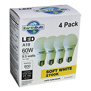 Earthtronics 800 Lumens 9.5 Watt A19 LED Soft White EarthBulbs