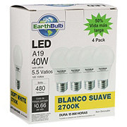 EarthTronics A19 40W 480 Lumens Soft White