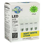 EarthTronics A19 75W 1100 Lumens Soft White