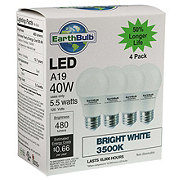 EarthTronics A19 LED 40W 480 Lumens Bright White