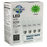 EarthTronics A19 LED 60W 800 Lumens Bright White