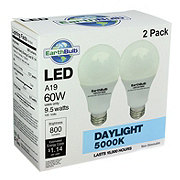 EarthTronics LED 9.5W A19 Daylight Bulbs