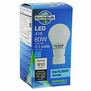 EarthTronics LED A19 60W 810 Lumens Daylight Dimmable
