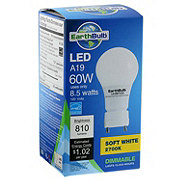 EarthTronics LED A19 60W 810 Lumens Soft White Dimmable