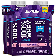 EAS 100% Whey Protein Ready-to-Drink Strawberry Shake 4 pk