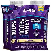EAS 100% Whey Protein Ready-to-Drink Vanilla Shake 4 pk
