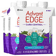 EAS AdvantEDGE Carb Control Ready-to-Drink French Vanilla Protein Shake 4 pk
