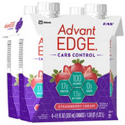 EAS AdvantEDGE Carb Control Ready-to-Drink Strawberry Cream Protein Shake 4 pk