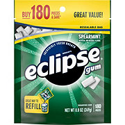 Eclipse Spearmint Sugarfree Chewing Gum, 180 ct bag