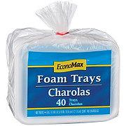 EconoMax 6-9/16 x 8-5/8 Inches Foam Polypropylene Trays