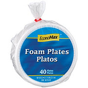 EconoMax Foam Polypropylene Plates, 8-7/8 inch